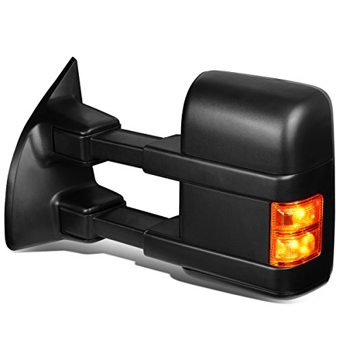 Powered+Heated+Amber LED Signal Towing Mirrors Compatible with Ford F250-F550...