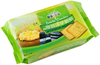 《健康日誌 》 海苔洋芋脆餅 192g(全素)(海苔ポテトクラッカー) 《台湾 お土産》 [並行輸入品]