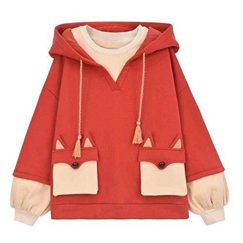 Harajuku Anime bluza z kapturem damska koreański Kawaii ponadgabarytowa Streetwear Kpop jesień zima boże narodzenie para ubrania topy