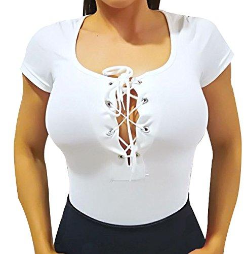 Damesbody met korte mouwen. Body hemd, korte mouwen, te combineren met rok (wit)