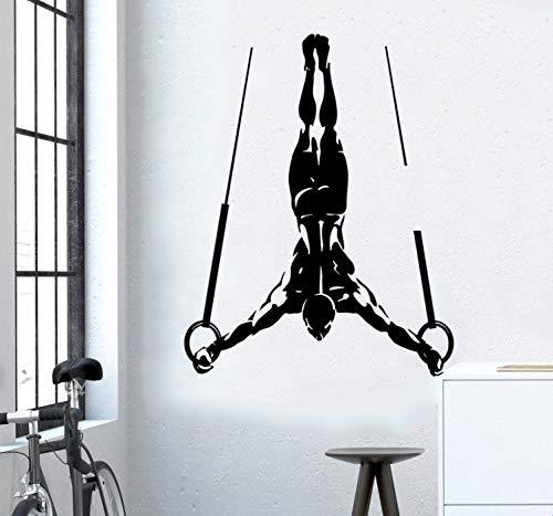 Sportaufkleber Mode-Sport-Ausgangssport-Muskel-Mann-Gymnastikring-Aufkleber