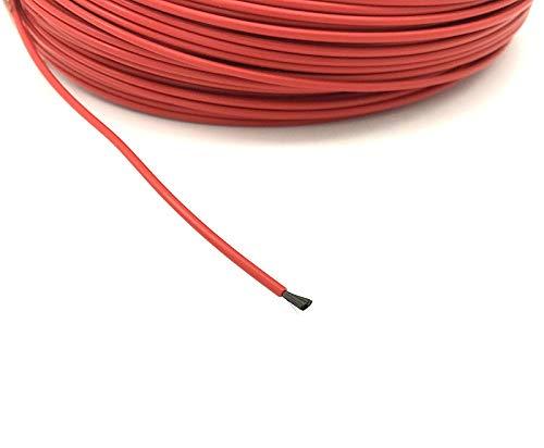 CROSYO 1 stück Fluorpolymer isoliert Infrarotheizung Fußbodenheizung Kabelsystem von 2,1 mm 17 Ohm Kohlefaserdraht Elektrische Boden Hotline (Größe : 100 Meters)