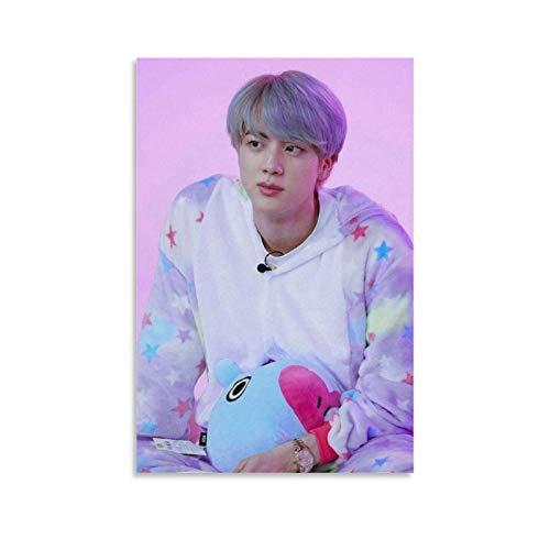 YZZM Kpop Poster BTS Kim Seok Jin Póster 7 Póster decorativo de lienzo para pared,...