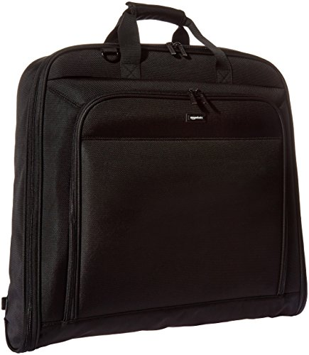 AmazonBasics Premium Travel Hanging Luggage Suit Garment Bag - 21.1 Inch, Black