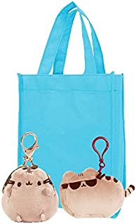 "Pusheen Coin Purse and Sunglasses Pusheen | 4.5"" Pusheen Plush Sunglasses Backpack Clip and 3"" Coin Purse with Tote 