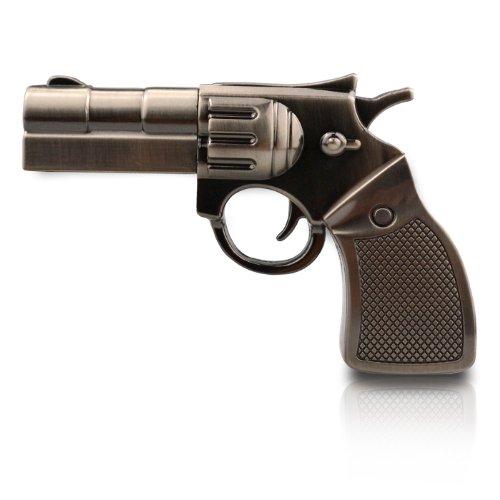 818-TEch no11400050032 Hi-Speed 2.0 USB PenDrive 32GB pistola rivoltella metallo 3D metallico
