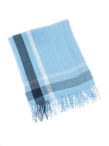 Lexington 2020121724 Manta, Algodón, Azul y Blanco, 130x170x1 cm