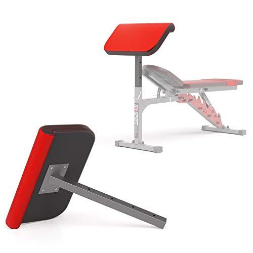 K Sport Soporte de banco de pesas ajustable con hiperextensión predicador de brazo aislado con barra de mancuernas, estación de bíceps, equipo de levantamiento de pesas para gimnasio en casa