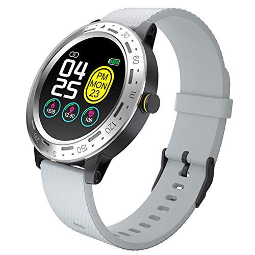 Wsaman Reloj Fitness Inteligente Fitness Tracker Deportivo Tracker Smartwatch Pulsera Actividad con Pulsómetro Cardíaco y Sueño, con Pantalla Táctil para Android/iOS/Mujer/Hombre,Silver Gray