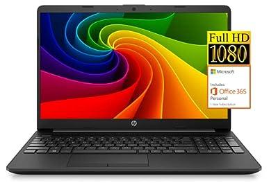 "2021 Newest HP Notebook 15 Laptop, 15.6"" Full HD Screen, Intel Celeron N4020 Processor, 8GB DDR4 Memory, 128GB SSD, 1-Year Microsoft Office 365, Webcam, Type-C, RJ-45, HDMI, Windows 10 Home, Black"