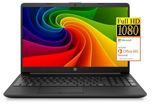2021 Newest HP Notebook 15 Laptop, 15.6' Full HD Screen, Intel Celeron N4020 Processor, 8GB DDR4 Memory, 128GB SSD, 1-Year Microsoft Office 365, Webcam, Type-C, RJ-45, HDMI, Windows 10 Home, Black