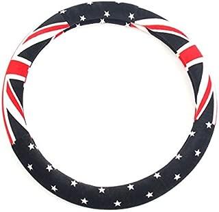 LIGHTKOREA Suede Union Jack Steering Wheel Grip Cover Free Size