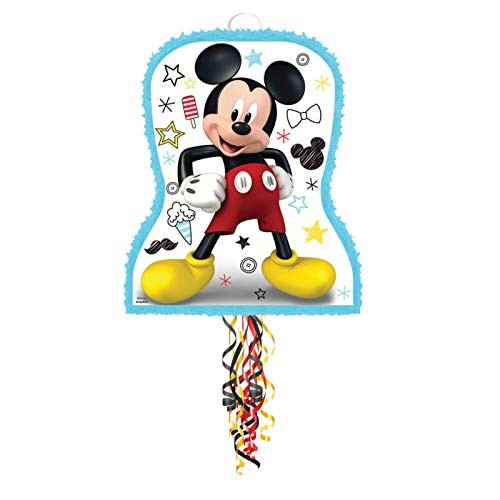 Amscan Mickey On The Go Pull String Pinata (1)