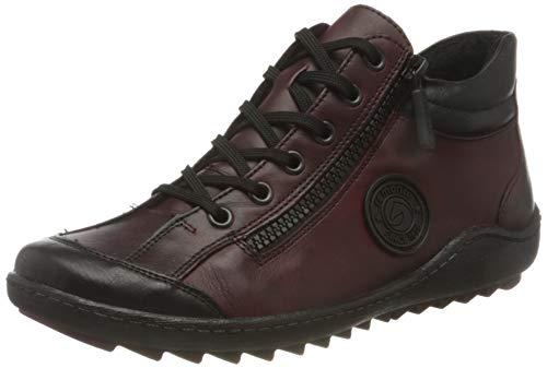Remonte Damen R1477 Sneaker, schwarz/Chianti/Chianti / 35, 41 EU