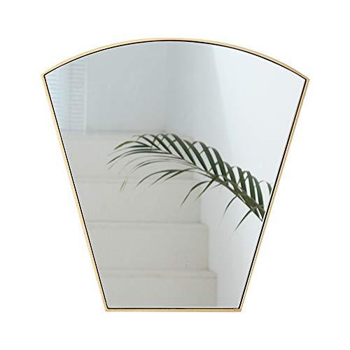 Bathroom mirror Wandspiegel für Badezimmer, Spiegel für Wand mit goldenen Metallrahmen 53X 48 cm, dekorative Wandspiegel für Wohnzimmer, Schlafzimmer, Glasverkleidung