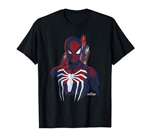 Marvel's Spider-Man Game Paint Portrait Maglietta