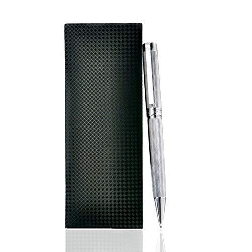Giabo® Kinzoku│Luxus Kugelschreiber in Silber│Hochwertiger Kulli aus Edelstahl/Kupfer│Edel im Design und ideal ausbalanciert