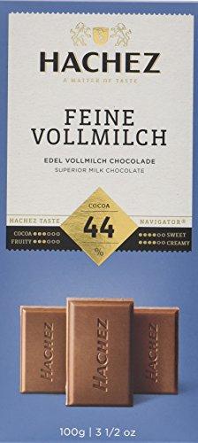 Hachez Tafel Feine Vollmilch 44%, 5er Pack (5 x 100 g)