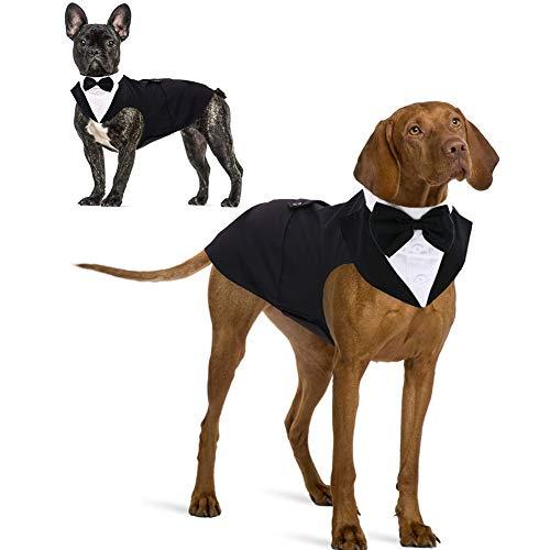 IDOMIK Dog Tuxedo Suit For Small Medium Large Breed, Formal Dog Tuxedo Vest Set With Detachable Bow...