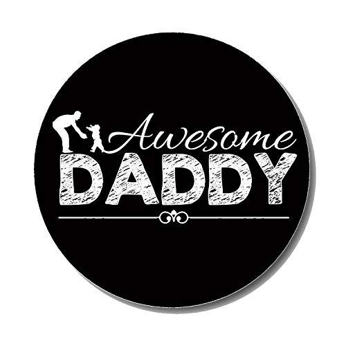 Gifts & Gadgets Co. Awesome Daddy Metall Kühlschrankmagnet 50mm rund Bedruckt Geschenk