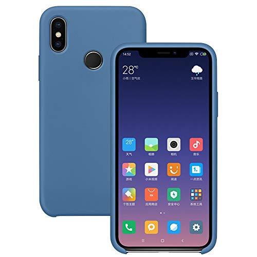 Pacyer Funda Compatible con Xiaomi Mi MAX 3, Ultra Suave TPU Gel de Silicona Case Protectora Suave Flexible teléfono Absorción de Impacto Elegante Carcasa Compatible Xiaomi Mi MAX 3 (Azul)