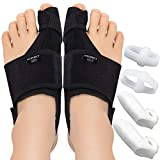 Vicorrect Bunion Corrector & Bunion Toe Separators, Orthopedic Bunion Splint for Big Toe Pain Relief and Toe Straightening, Hallux Valgus Brace for Day/Night Support