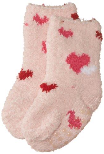Playshoes Mädchen Socke 498900 Fleece-Socken Kuschelsocken Herzchen, Gr. 19/22