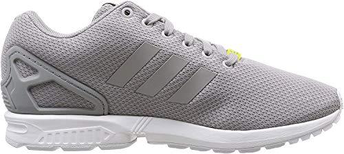 adidas Originals ZX Flux Unisex-Erwachsene Laufschuhe, Grau (Aluminum/Running White), 46