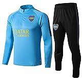 L-YIN Traje entrenamiento de fútbol Club de adulto Camiseta de la Juventud de manga larga y pantalones de jogging BreathableTop QL0265 Traje Chándales (Color : Blue, Size : M)