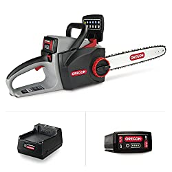 Oregon Cordless CS300-E6 Chainsaw Kit with 2.4 Ah Battery and Charger