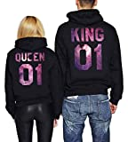 Tabiekacl King Queen 01 Hoodies Partner Look Pärchen Hoodie Set Sweatshirt 2 Stücke