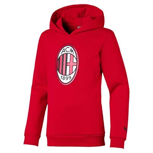 Milan 19//20 Personalizzata Personalizzabile MAESTRI DEL CALCIO Felpa Cappuccio Rossa A.C