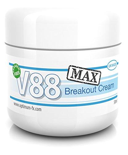 V88 MAX Crema Para Brotes DOBLE EFECTIVIDAD Con Ácido Salicílico Para Granos Puntos Negros Imperfecciones y Piel Problemática SIN Parabenos 50 Gramos