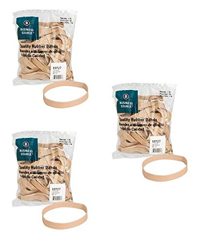 Business Source Size 107 Rubber Bands - 1 lb. Bag (15727) (Pack of 3)
