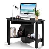 Tangkula Corner Desk, Corner Computer Desk, Wood Compact Home Office Desk,...