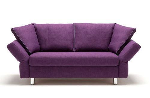 Schlafsofa Malou - 130 x 205 cm - Elegantes Sofa mit Schlaffunktion - Pflaume