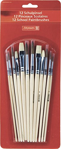 Brunnen 1048929 - Set di pennelli con setole miste in fibra naturale