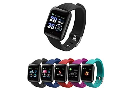 Glowjoy Smart Watch,1.3 Zoll Touch-Farbdisplay Fitness Armbanduhr Mit Pulsuhr Fitness Tracker Ip67 Wasserdicht Sportuhr Smart Watch Mit SchrittzäHler, Schlafmonitor,Stoppuhr FüR Damen Herren