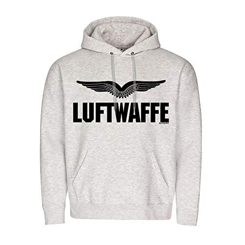 Copytec BW Luftwaffe Schwingen Flügel Mannheim Militär Hoodie #20138, Größe:L, Farbe:Grau