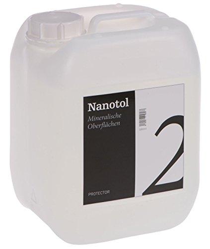 Steinversiegelung Steinimprägnierung - Nanotol Protector für mineralische Oberflächen - Nanotechnologie Versiegelung für offenporige Steine (5L - 100m²)