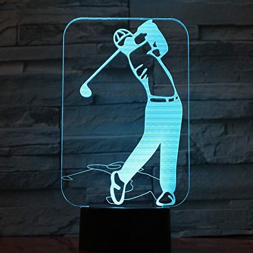 El jugador de golf enciende la lámpara de acrílico colorida de la lámpara LED 3D como las decoraciones caseras encienden GX