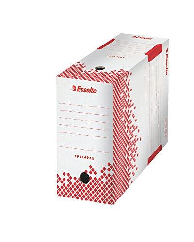 Esselte - Set di 5 scatole per archivio Speedbox, montaggio automatico, dorso di 15 cm