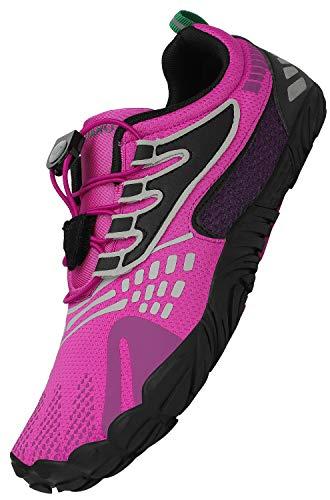 SAGUARO Zapatos Descalzos Hombre Ligero Zapatillas de Trail Mujer Running Zapatillas Minimalistas Zapatos de Senderismo Yoga Running Ciclismo, Morado 37