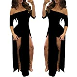 Black Maxi Romper Skirt Dresses Summer Bodycon Sexy Dress Womens Beach 2021 L