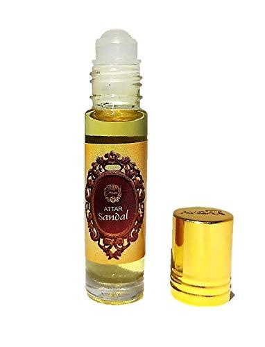 NK GLOBAL Indian Natural Sandalwood Parfum Oil Alcohol-Free Attar Gift for Men and Women Attar Parfum Oil 8 ML Roll-on Bottle