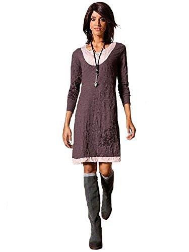Linea Tesini® Shirt Kleid Mauve 36