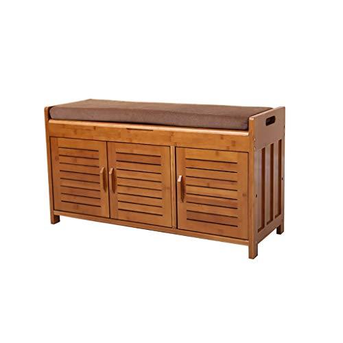 AA-stool chair DENGZ Schuhbank Bambus Schuhregal Holz Test Schuhe Schuhbank Multifunktionale Aufbewahrung Aufbewahrungshocker