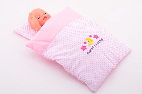 Puppenbettzeug, Zubehör, Set mit Kissen und Decke
