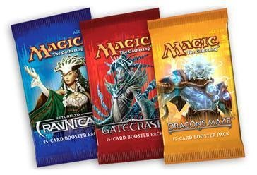 1 (One) Booster Draft Set of Magic the Gathering MTG - Dragon's Maze / Gatecrash / Return to Ravnica Booster Draft Packs