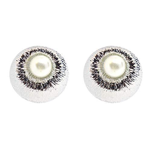 Cussi - Pendiente de rodio con perla